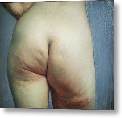 Buttocks And Left Hand On Hip Metal Print