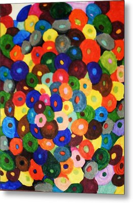 Button Buttons Whose Got The Buttone One Metal Print by Brenda Adams