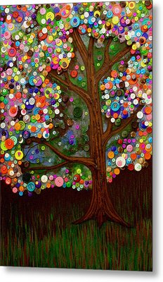 Button Tree 0007 Metal Print by Monica Furlow