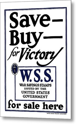 Buy For Victory Metal Print by War Is Hell Store