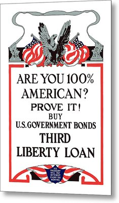 Buy U.s. Government Bonds Metal Print by War Is Hell Store