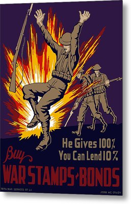 Buy War Stamps And Bonds Metal Print by War Is Hell Store