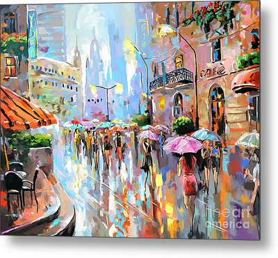 Buzy City Streets Metal Print by Tim Gilliland