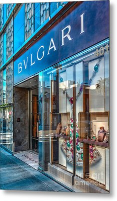 Bvlgari Beverly Hills Metal Print by David Zanzinger