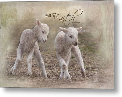 Metal Print featuring the photograph By Faith by Robin-Lee Vieira