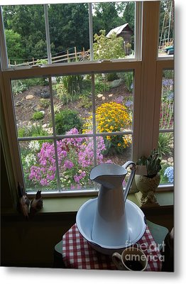 By The Garden Window In North Carolina Metal Print