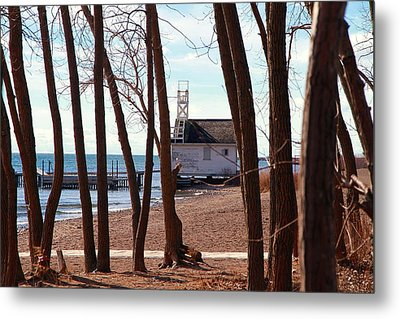 Metal Print featuring the photograph By The Lake by Valentino Visentini