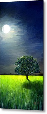 Metal Print featuring the painting By The Light Of The Moon by James Shepherd