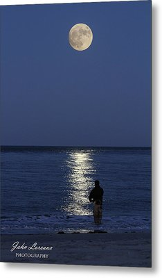 By The Light Of The Supermoon Metal Print by John Loreaux