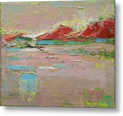 By The River Metal Print by Becky Kim