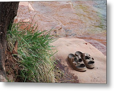 Metal Print featuring the photograph By The Riverside by Barbara MacPhail