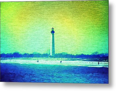 By The Sea - Cape May Lighthouse Metal Print by Bill Cannon