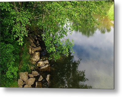 Metal Print featuring the photograph By The Still Waters by Tikvah's Hope