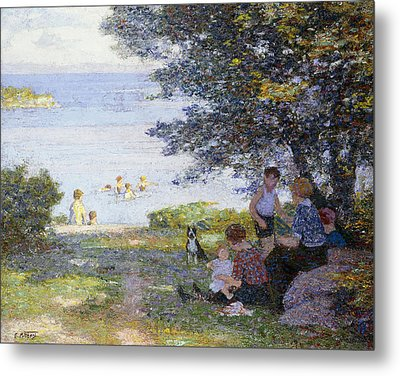 By The Water Metal Print by Edward Henry Potthast