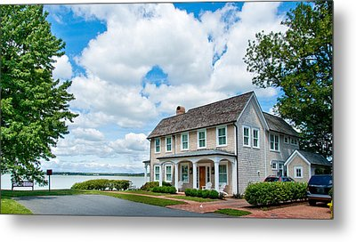 By The Water In Oxford Md Metal Print by Charles Kraus