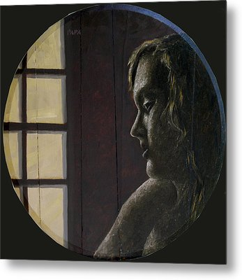 By The Window Metal Print by Ralph Papa