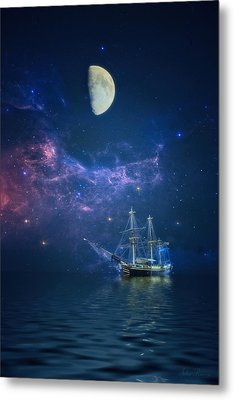 By Way Of The Moon And Stars Metal Print by John Rivera