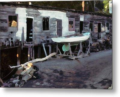 Bygone Boatyard Metal Print