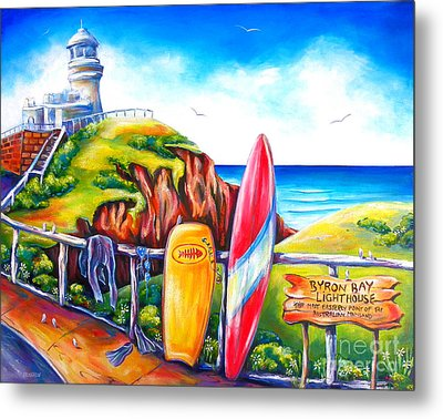 Byron Bay Lighthouse Metal Print
