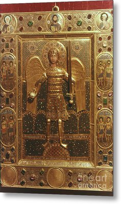 Byzantine Art: St. Michael Metal Print by Granger