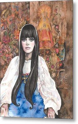 Byzantine Madonna Metal Print by Kim Whitton