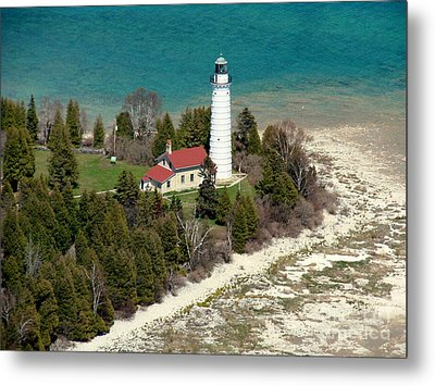 C-018 Cana Island Lighthouse Metal Print by Bill Lang