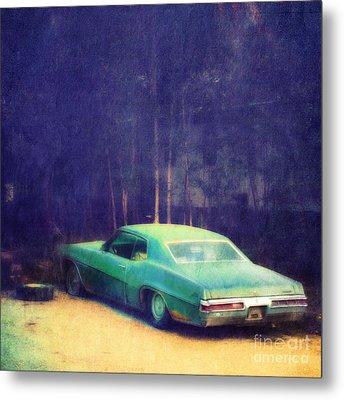 The Old Car Metal Print