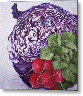 Cabbage Maze Metal Print