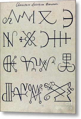 Cabbalistic Signs And Sigils, 18th Metal Print by Wellcome Images