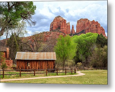 Metal Print featuring the photograph Cabin At Cathedral Rock by James Eddy