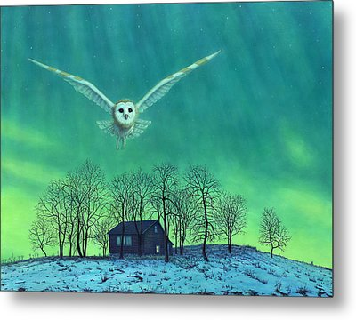 Cabin Comfort Metal Print by James W Johnson