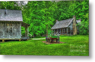 Metal Print featuring the photograph Cabin Fever Great Smoky Mountains Art by Reid Callaway
