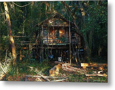 Cabin Fever Watercolor Metal Print by Joseph G Holland