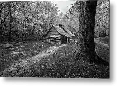 Cabin In The Cove Metal Print by Jon Glaser