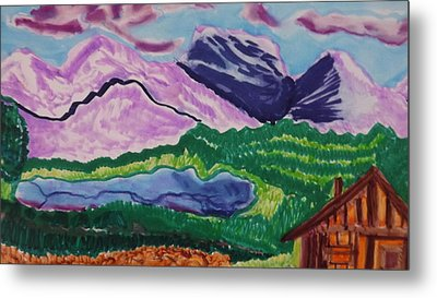 Cabin In The Mountains Metal Print by Don Koester