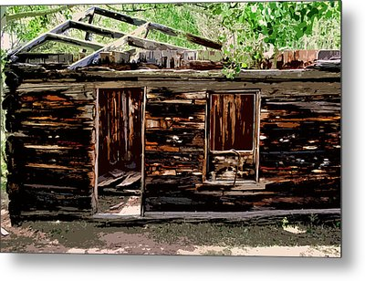 Cabin In The Woods Metal Print by Ellen Heaverlo