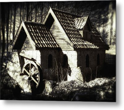 Cabin In The Woods Metal Print by Wim Lanclus