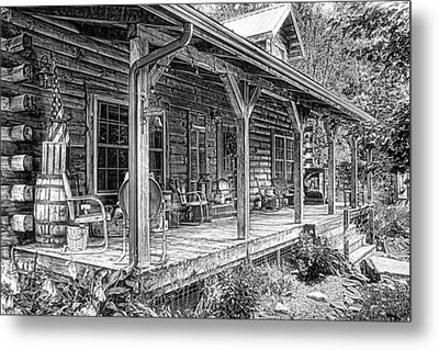 Cabin On The Hill Metal Print by Tom Mc Nemar