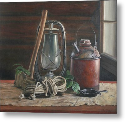 Cabin Still Life Metal Print by Anna Rose Bain