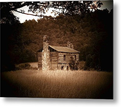 Cabin Thru The Trees Metal Print by Joyce Kimble Smith
