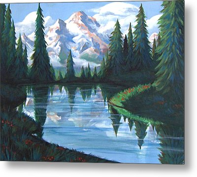 Cabin View Metal Print by Jessica Ostrander