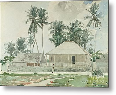 Cabins, Nassau Metal Print by Winslow Homer