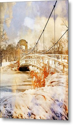 Cable Bridge Metal Print by Marty Koch