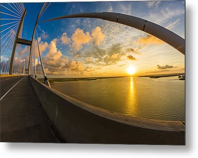 Cables Bend At Sunset Metal Print by Chris Bordeleau