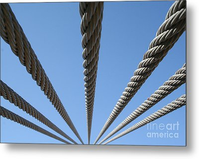 Cables To Heaven Metal Print by Andrew Serff
