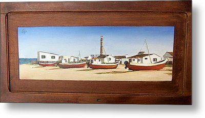 Metal Print featuring the painting Cabo Polonio 2 by Natalia Tejera