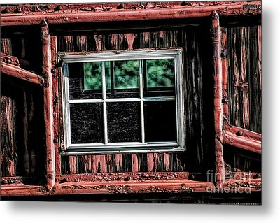 Metal Print featuring the photograph Caboose Window by Brad Allen Fine Art