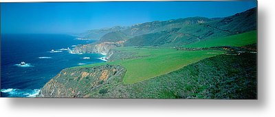 Cabrillo Highway On The California Metal Print by Panoramic Images