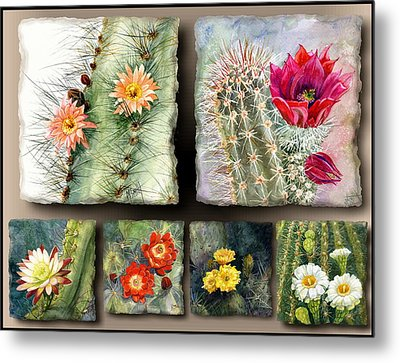 Metal Print featuring the painting Cactus Collage 10 by Marilyn Smith