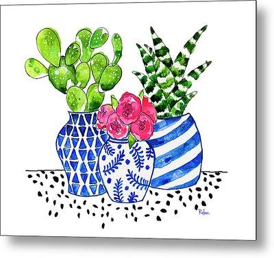 Cactus Garden Metal Print by Roleen Senic